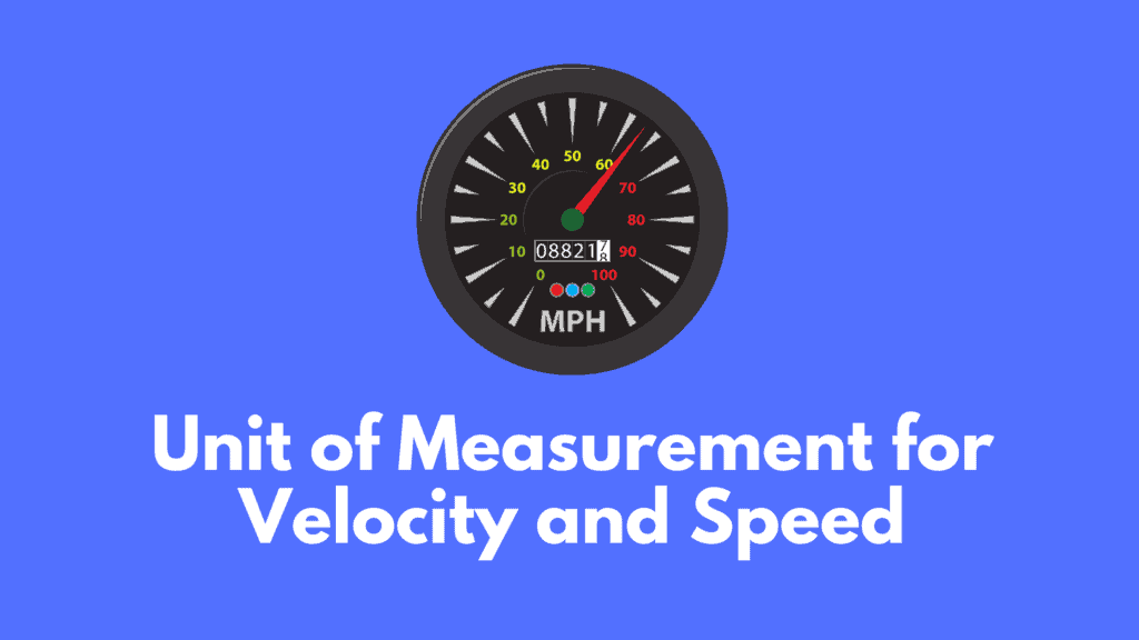 Unit of Measurement for Velocity and Speed - blog banner
